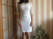 продам белое платье .